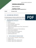MEMORIA DESCRIPTICA  ELECTRICA UNIFAMILIAR  LUIS JO
