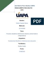 Fundamentos filosoficos e historicos de la educacion tarea Vll