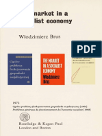 The market in a socialist economy brus 1972