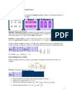 Training Course 8 Matrices and Vectors