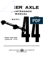 Spicer Axle Maintenance Manual