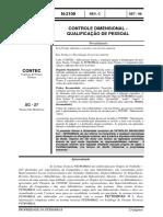 N-2109 CONTROLE DIMENSIONAL - QUALIFICAÇÃO DE PESSOAL