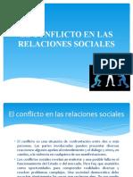 EL CONFLICTO EN LAS RELACIONES SOCIALES