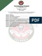 ACUERDOS PREPARATORIOS - UNIVERSIDAD LIBRE