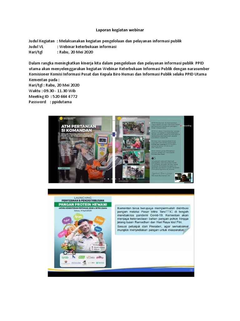 Laporan Kegiatan Virtual Live Ppid 20 Mei 2020 Docx
