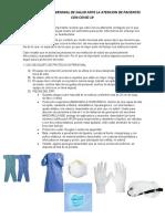 MEDIDAS DE PROTECCION PARA EL PERSONAL DE SALUD ANTE PACIENTES CON COVID 19