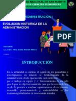 I. EVOLUCION DE LA ADMINISTRACION