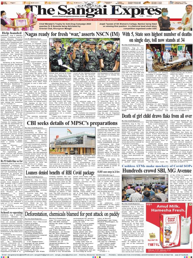 Sangai express today newspaper pdf download