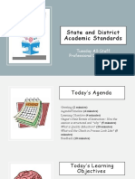 state and district academic standards
