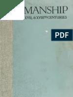 Penmanship of the XVI, XVII, and XIIIth Centuries