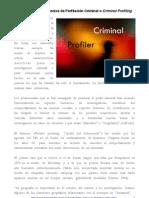 Introducción a al técnica a la perfilación Criminal o criminal profiling - Psicología Forense Aplicada -
