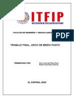 TRABAJO FINAL , ARCO DE MEDIO PUNTO