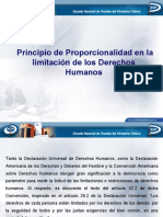 Presentación Principio de Proporcionalidad en la limitación de los DDHH (2)
