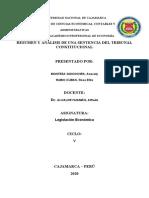 RESUMEN Y ANALISIS DE UNA SENTENCIA DEL TRIBUNAL CONSTITUCIONAL.docx