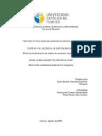 Covid-19 y el acceso a la justicia en Chile. TESIS Llano-Garcés (1)