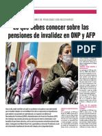 La Pensión de Invalidez en La Onp y Afp - Autor José María Pacori Cari