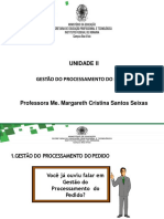 Gestão Logística - UNID. II - Aula 4- Gestão do Processamento do Pedido