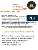 Electronic Evidence with case laws for Public Prosecutors of MP by Prashant Mali