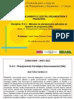 Métodos de planej. aplic. ao desenho  Programa - José Celso Pereira Cardoso Junior  (D 4.4 – )