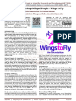 Managing Underprivileged People – Wings to Fly