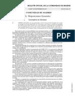 Boletín Oficial de la Comunidad de Madrid con las medidas aprobadas para hacer frente al coronavirus