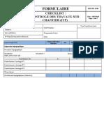 MNP-FR-15-00 check-list  contrôle des Travaux sur Chantier