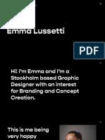 Emma Lussetti Graphic Design Portfolio