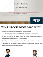 WHAT IS DOCTRINE OF GOOD FAITH  Insurance Law