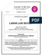 2020_07_04 UE College of Law Course Syllabus on Labor Law Review