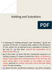 holding and subsidiary