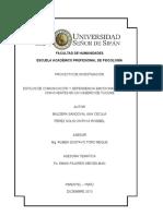 PROYECTO- ESTILOS DE COMUNICACION Y DEPENDENCIA EMOCIONAL- BALDERA SANDOVAL Y PEREZ SOLIS