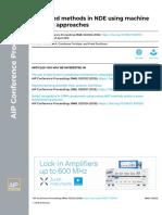 Advanced methods in NDE using machine