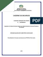 CADERNO DE ENCARGOS CONCURSO limitado por convite carteiras duplas