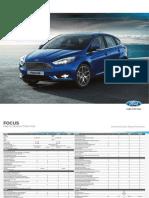 Ford - Focus 3 - Ficha técnica 2018