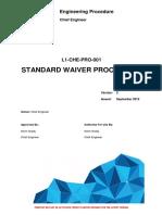 L1-CHE-PRO-001 - Standard Waiver Procedure