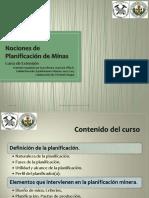 Curso Nociones de Planificación de Minas 2015