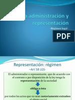 De la administración y representación