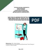Guía para la elaboración de proyectos factibles por MSc Sheila Galíndez