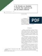 Agências de regulação e intervenção estatal