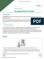 Les Prépositions_ Las Preposiciones en Francés