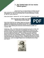 Rudel, Oberst Hans-Ulrich - Als Soldat Habe Ich Nur Meine Pflicht Getan