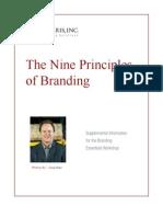 9 Principles of Branding