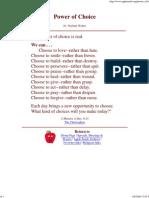 _Power of Choice_ by Fr. Norbert Weber