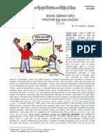 11 - BOAS OBRAS SÃO FRUTOS DA SALVAÇÃO