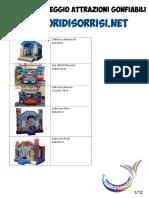 Catalogo Noleggio Attrazioni Gonfiabili CDS