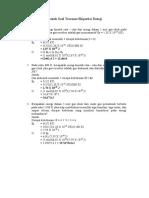 Contoh Soal Teorema Ekipartisi Energi