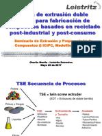 Teoría de extrusión doble husillo para fabricación de compuestos basados en reciclado post-industrial y post-consumo - Charlie Martin Leistritz actualizada