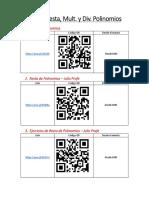 2. Suma, Resta, Multipl. y Div de Polinomios