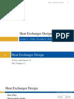 CHE 165A L11 - Heat Exchanger Design.pdf