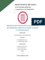 INFORME PLANTEAMIENTO DE PROBLEMA, OBJETIVOS Y JUSTIFICACION DE LA INVESTIGACION
